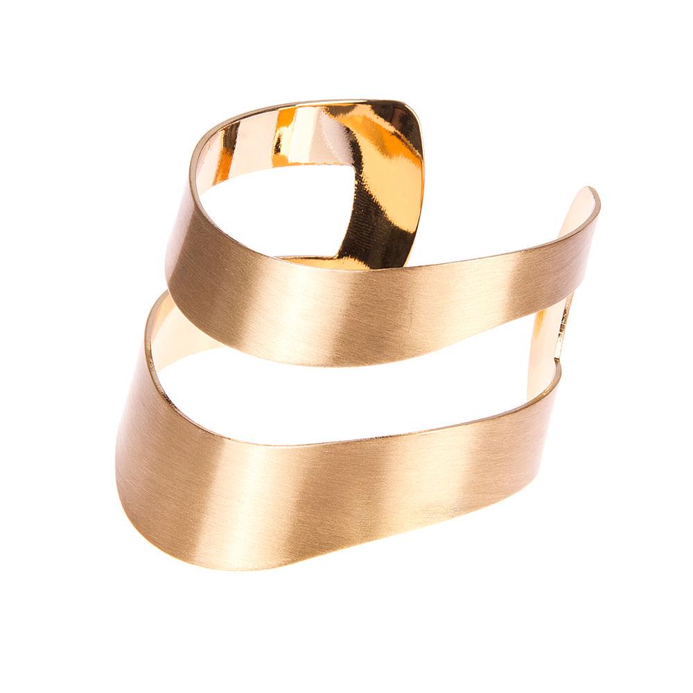 ffff3e3ec Bracelete Geo Sinuoso Vazado Dourado - lebriju