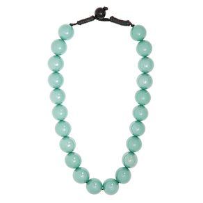 Colar-corda-acrilico-esferas-peroladas-unico--Verde-claro