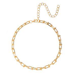 Choker-metal-corrente-elo-retangular-dourado